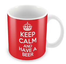 KEEP CALM and Have a Beer - Coffee Cup Gift Idea present drinking funny ale