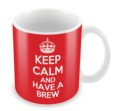 KEEP CALM and Have a Brew - Coffee Cup Gift Idea present tea drinker funny xmas