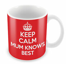 KEEP CALM Mum knows Best - Coffee Cup Gift Idea present mother xmas pressie