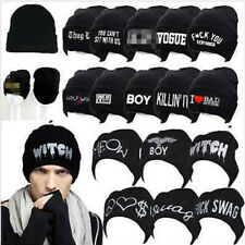 Women's Men's Hat Unisex Warm Winter Knit Fashion Cap Hip-hop Beanie Hats Top r