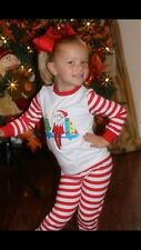 Elf on the shelf inspired knit pj  sleepwear boy girl 5,6,7,8 Christmas unisex