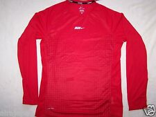NWT NIKE DRI-FIT M REFLECTIVE Men's running shirt Long Sleeve red white tech