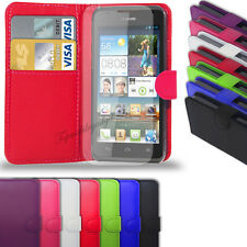 Huawei Ascend Y550  - Leather Wallet Case Cover  +  Free Screen Protector