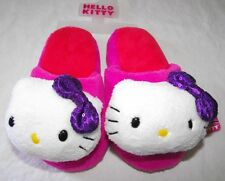 Girls Hello Kitty Slippers Pink White Purple Fuzzy Plush Size 11 12 13 1 S M New
