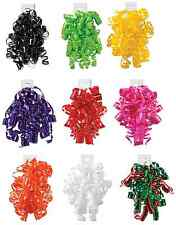 High Gloss Curly Bows - 6 or 12 per Pack