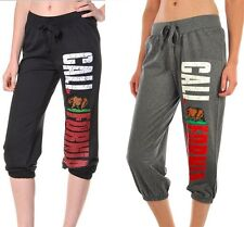 Women's California Republic Sweat Pants Capri Style