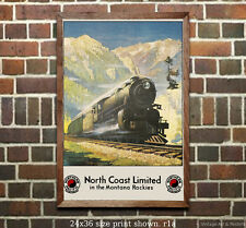 Northern Pacific North Coast Ltd. - Reproduction Vintage Rail Road Travel Poster