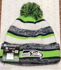 NEW ERA NFL SEATTLE SEAHAWKS NAVY BLUE LIME GREEN CUFF KNIT BEANIE HAT ONE SIZE