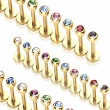 Lip Piercing Labret Monroe gold 10 Colors zirconia new PIERCINGS from ALLFORYOU