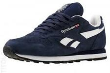 [M43014] REEBOK CLASSIC LEATHER SUEDE NAVY/WHITE MEN'S SIZE 8.5 TO 13 NIB