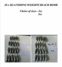 20 x SEA FISHING WEIGHTS BEACH BOMB 2oz 3oz