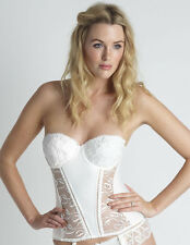 Womens Lepel Bouquet Ivory Sheer and Embroidered Lace Ladies Basque/Corset