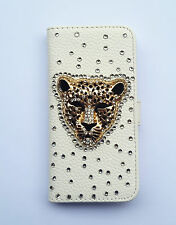 Bling Panther Wallet Card Holder PU Leather Flip Case Cover For Sony Phones