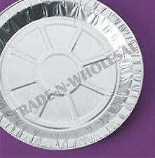 """INDIVIDUAL FOIL PIE PLATES 9"""" DISHES, CASES, ROUND, TIN CONTAINER, DISPOSABLE"""