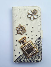 Bling Perfume Wallet Card Holder PU Leather Flip Case Cover For Sony Phones