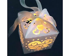 Cute 12x Cream Lanterns Holders Led Tea Light Tealight For Wedding Party Candle
