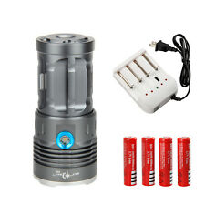 Tactical 12000Lm 8x CREE XM-L T6 LED Spotlight Flashlight Torch Work Light 18650