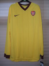 New Authentic Arsenal 2010/11 Away Shirt L/S Player Issue Rare No Sponsor  XL