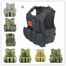 HOT Camouflage Airsoft Tactical Military Molle Combat Assault Plate Carrier Vest