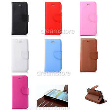 Deluxe Real Leather Wallet Filp Case Cover For Samsung Many Models