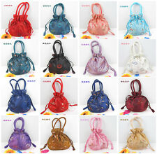 Chinese Handmade Silk Embroidery Pouch Handbag Bag Purse Wallet- Pick Color