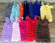 Ruffled Lace Baby Rompers NEW! Many Colors To Choose From