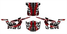 Polaris RZR 1000 graphics with OEM Inserts and Roof Wrap #3500 Red