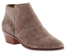 Nicole Tuff Ankle Boot, Suede Upper, Leather Stacked Heel, Rubber Sole