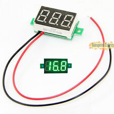 "DC 0-100V 0.36"" LED 3-Digital Voltage Voltmeter Volt Meter Gauge Panel 3 Color"