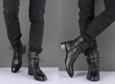 Newest Stylish Men's Winter Warm Shoes Lace Up Ankle Boots Casual Buckles Shoes