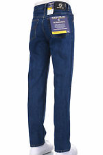 Eagle blue jeans Men Classic Stonewashed Denim jeans Straight Leg fit Size 28-42