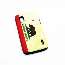 LG Google Nexus 4 E960 Hybrid 2-in-1 Phone Cover Case California State Flag