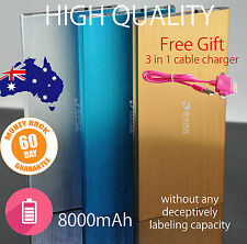 Universal 8000mAh Dual USB Portable Power Bank/ Battery Charger for Mobile Phone