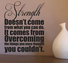 Strength Removable Wall Decal Sticker Motivational Wall Quote Decor