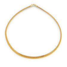 Women's 14kt Yellow Gold Filled 6mm Wide Tapered Omega Chain Necklace