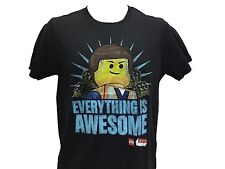 Lego Movie Everything is Awesome Logo Building Blocks Classic Movie T Shirt NWT