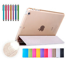 Magnetic Slim Flip PU Leather Smart Stand Cover Case For Apple iPad Sleep/Wake