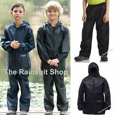 REGATTA KIDS FULLY WATERPROOF JACKET & TROUSERS SUIT BOYS GIRLS CHILDS RAIN COAT