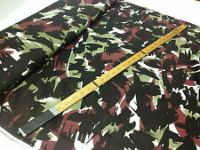 "*NEW* Stretch Viscose Jersey Camouflage Print Dress/Craft Fabric *FREE P&P*60""W*"