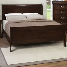 Contemporary Twin-Full-Queen-King Size Sleigh Bed Frames Bedroom Furniture Wood