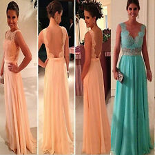 Fad Summer Long Evening Party Ball Prom Gown Formal Bridesmaid Cocktail Dress