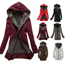 New Women's Lady Clothes Thicken Winter Warm Jacket Coat Hooded Fleece Outerwear