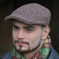 Irish Wool Cap - Brown by Hanna Hats, Tweed Cap Imported from Ireland - 4821-E2