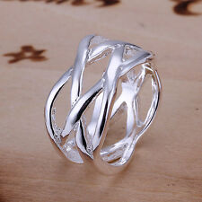 women's ring fashion jewelry 925 solid silver ring+gift box size 6-10 R010