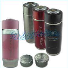 New Stainless Steel Quantum Alkaline Energy Dual Filters Water Ionizer Flask Cup