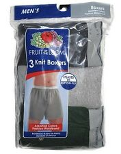 FRUIT OF THE LOOM MEN'S 3 PACK KNIT BOXER SHORTS