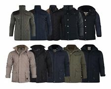 New Mens Soul Star Padded  Quilted Diamond  Patches Hunter Coat  Jacket