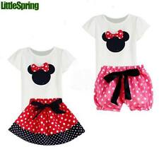 Children Girl's 2PC Sets Skirt Suit baby Clothing sets dots shorts summer set