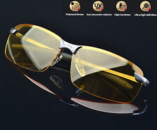 Mens Day/Night Driving Glasses Anti Glare UV400 Drive Safety Sunglasses with Bag