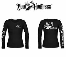 Bow Huntress Women's Long sleeve hunting t shirt,deer hunting,compound bow,pink